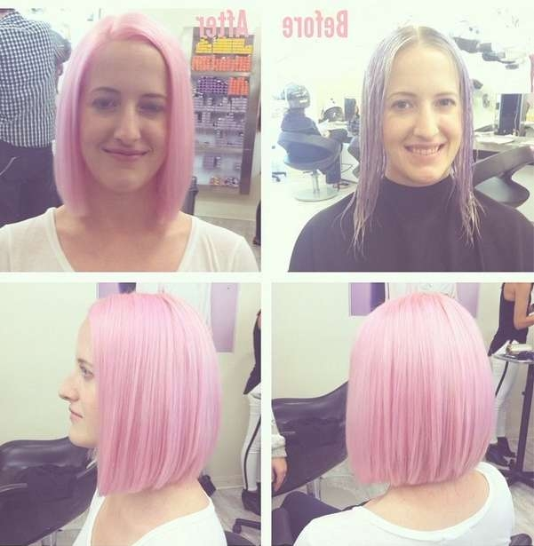 20 Medium Length Bob Hairstyles – Fabulous Mobs To Copy Now With Newest Pink Medium Haircuts (View 5 of 25)