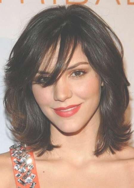 20 Medium Length Haircuts With Bangs Throughout Most Popular Heavy Layered Medium Hairstyles (View 25 of 25)