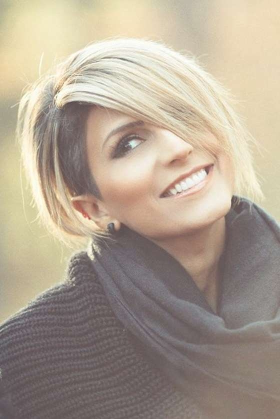 20 Most Flattering Asymmetrical Bob Hairstyles Regarding Most Recent Shaved Side Medium Hairstyles (View 9 of 25)