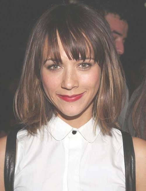 Featured Photo of Short Bangs Medium Hairstyles