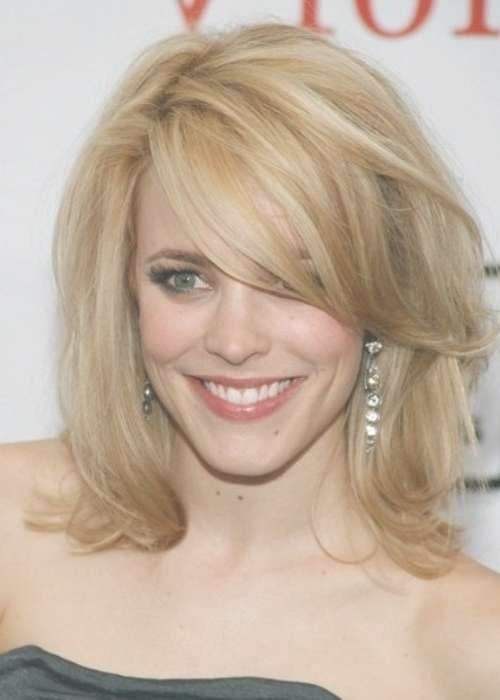 20 Side Bang Hairstyles | Herinterest/ In Latest Side Fringe Medium Hairstyles (View 2 of 25)
