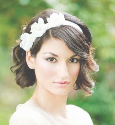 20 Stunning Wedding Hairstyles For Short Hair – Popular Haircuts With Most Recently Medium Haircuts With Headbands (View 7 of 25)