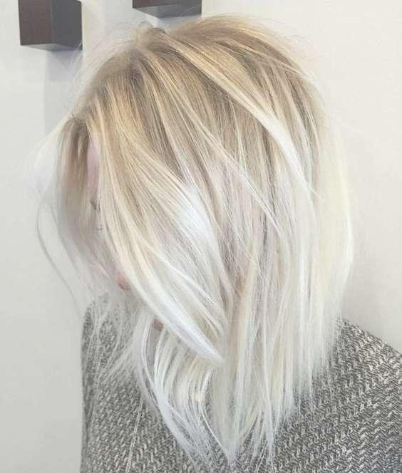 20 Trendy Hair Color Ideas For Women – 2017: Platinum Blonde Hair Regarding Latest Platinum Blonde Medium Hairstyles (View 2 of 15)