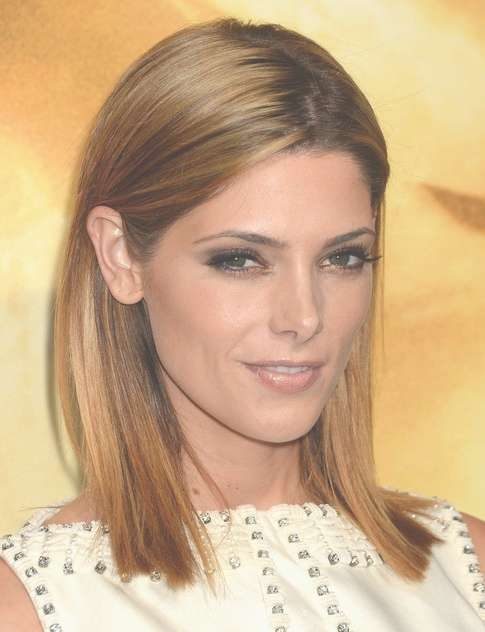 2014 Ashley Greene Medium Hairstyles: Blunt Haircut For Straight With Regard To Most Recently Blunt Medium Hairstyles (View 4 of 25)