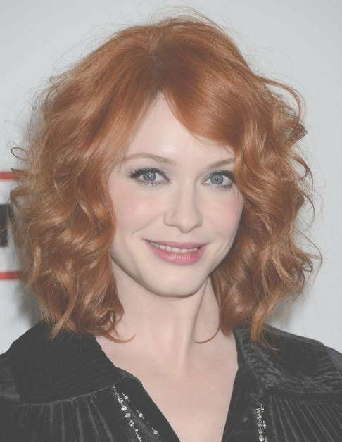 2014 Christina Hendricks Medium Hairstyles: Best Curly Hair For For Most Current Medium Haircuts With Red Hair (View 23 of 25)