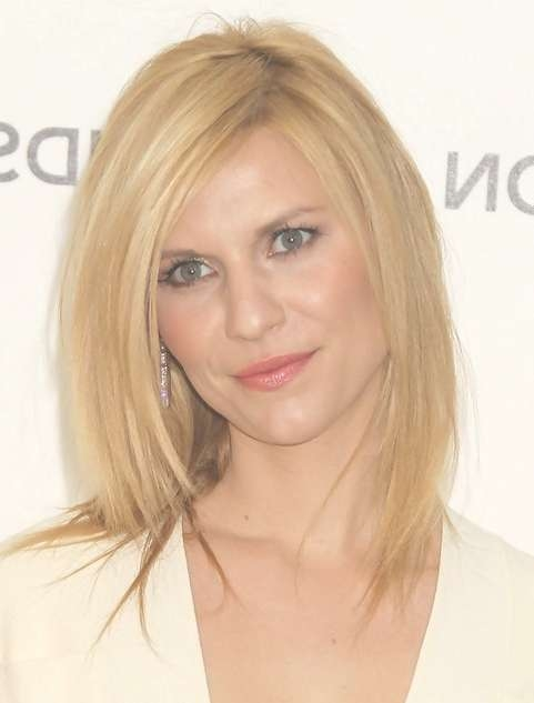 2014 Claire Danes Medium Hairstyles: Blonde Straight Hair – Pretty Regarding Most Up To Date Medium Haircuts For Straight Hair (View 23 of 25)