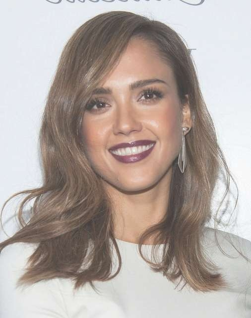 2014 Jessica Alba Medium Hairstyles: Brown Straight Hair – Pretty Throughout Best And Newest Jessica Alba Medium Hairstyles (View 10 of 25)