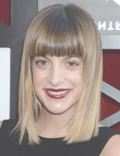 2014 Julia Stephens Medium Hairstyles: Blunt Haircut – Pretty Designs With Regard To Most Up To Date Blunt Medium Hairstyles (View 5 of 25)