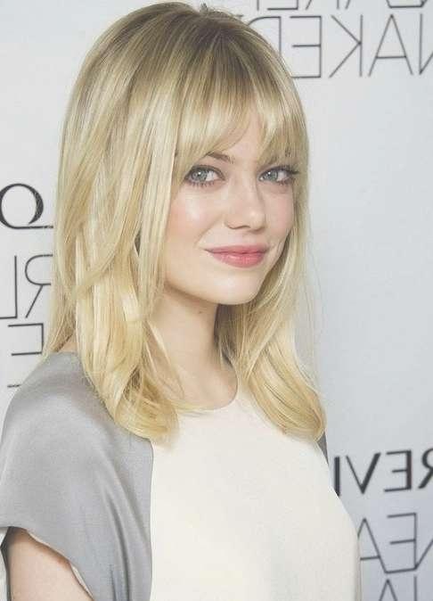 2014 Medium Hairstyles With Bangs For Fine Hair – Popular Haircuts With Latest Medium Haircuts Bangs (View 9 of 25)