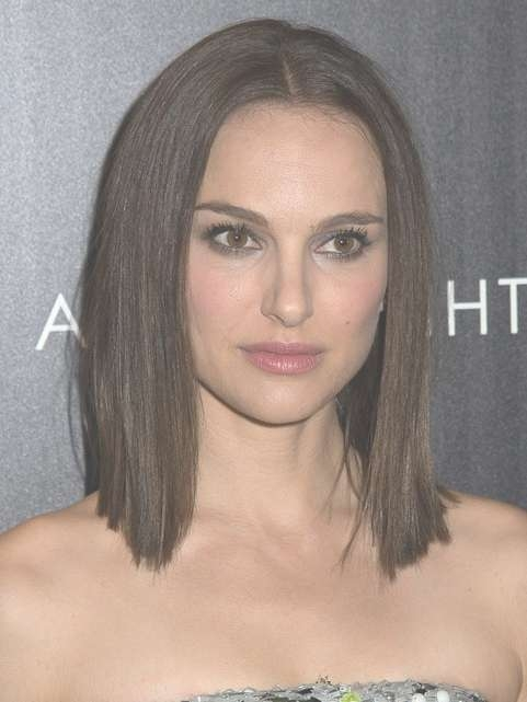 2014 Natalie Portman Medium Hairstyles: Blunt Haircut – Pretty Designs With Regard To Newest Blunt Medium Hairstyles (View 6 of 25)