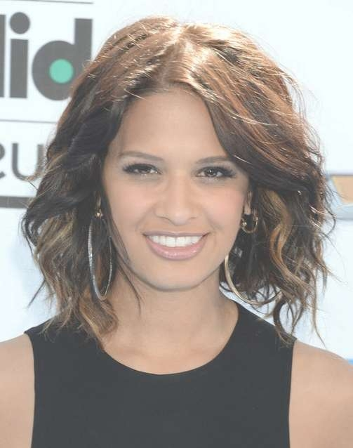 2014 Rocsi Diaz Medium Hairstyles: Messy Wavy Hair – Pretty Designs Throughout Most Recently Messy Medium Haircuts For Women (View 1 of 25)