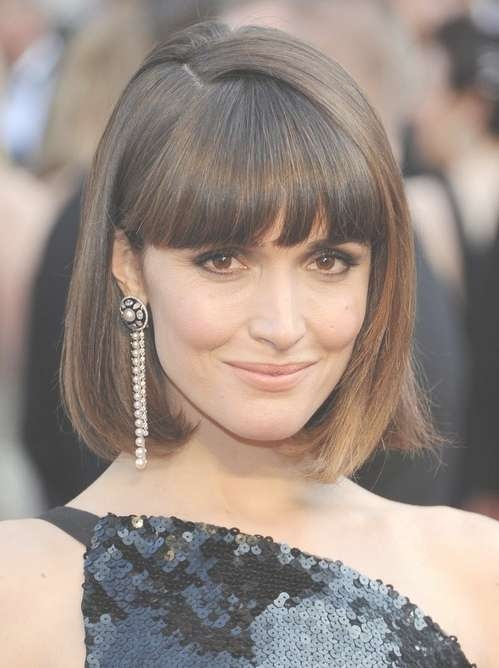 2014 Rose Byrne's Short Hairstyles: Blunt Bob Haircut With Blunt With Bob Hairstyles With Bangs (View 1 of 25)