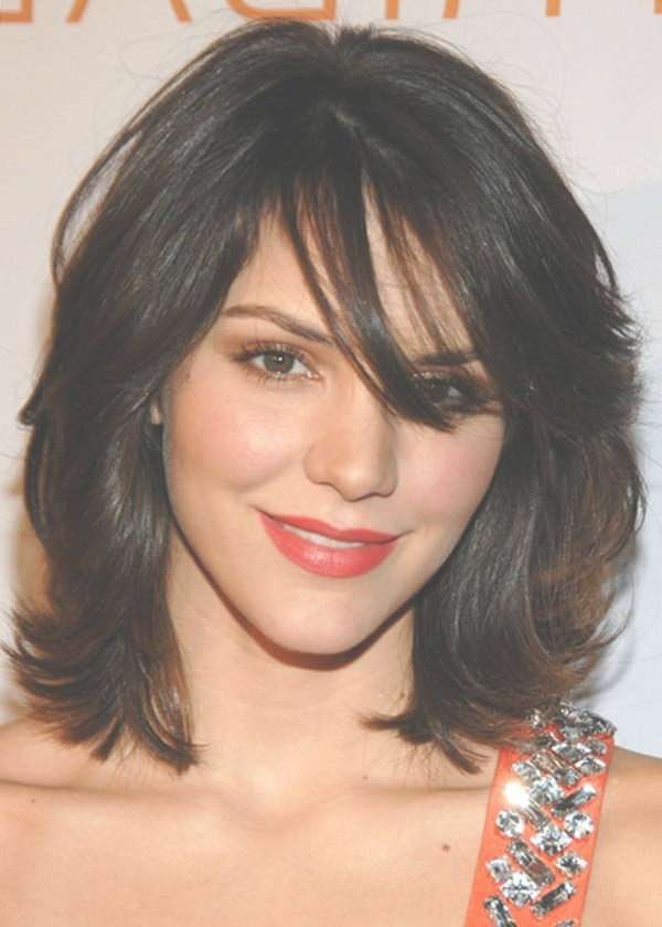 2017 Medium Length Hairstyles With Wavy Hair Inside Most Recently Medium Haircuts For Round Faces And Curly Hair (View 6 of 25)