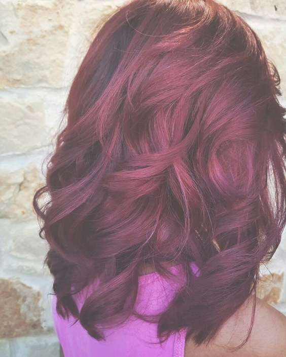 Featured Photo of Burgundy Medium Hairstyles