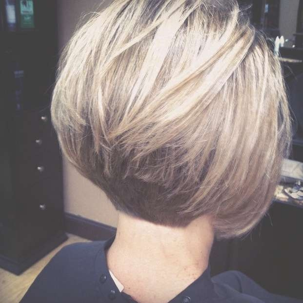 21 Gorgeous Stacked Bob Hairstyles – Popular Haircuts Regarding Bob Haircuts Shaved In Back (View 10 of 25)