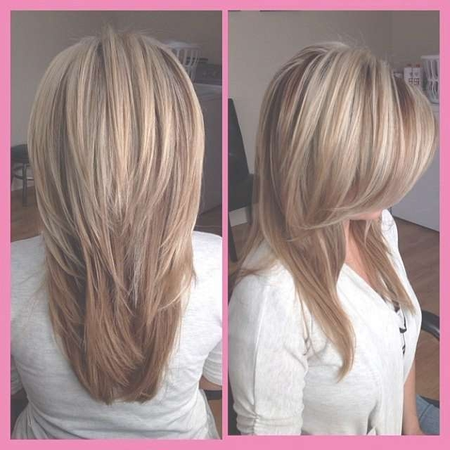 View gallery of v shaped layered medium haircuts showing 5 of 25 21 great layered hairstyles for straight hair 2018 pretty designs within newest v shaped layered solutioingenieria Image collections