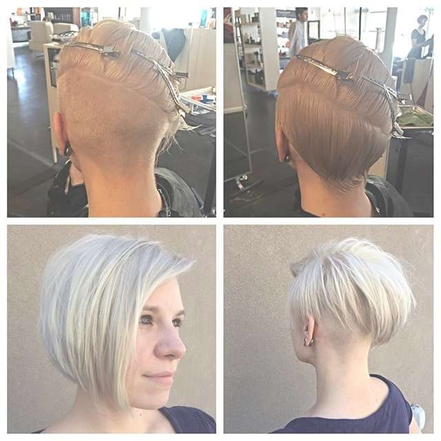 21 Super Cute Asymmetrical Bob Hairstyles – Popular Haircuts With Bob Haircuts Shaved In Back (View 11 of 25)