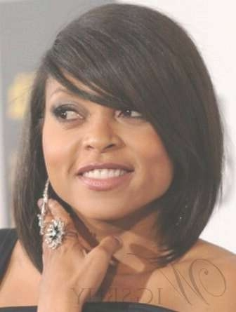 22 Best Taraji P Henson Hairstyles Images On Pinterest | Hairstyle Regarding Most Recently Medium Haircuts For Black Women With Round Faces (View 15 of 25)