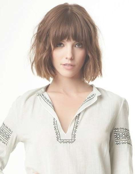22 Chic Bob Hairstyles With Bangs – Pretty Designs In Most Current Medium Haircuts With Wispy Bangs (View 3 of 25)