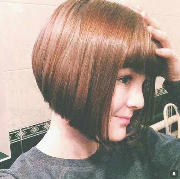 22 Cute Inverted Bob Hairstyles – Popular Haircuts For Bob Hairstyles With Fringe (View 25 of 25)