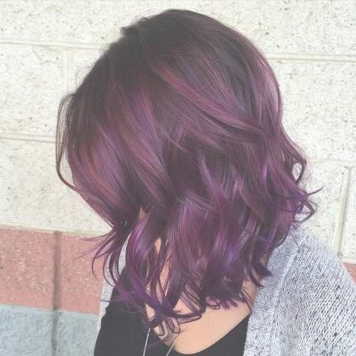22 Sassy Purple Highlighted Hairstyles (For Short, Medium, Long Throughout Recent Purple Medium Hairstyles (View 6 of 25)