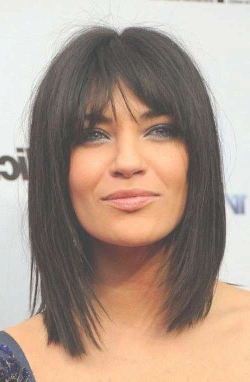 22 Super Hairstyles For Medium Thick Hair | Hairstyles & Haircuts Inside Most Recent Black Medium Hairstyles With Bangs And Layers (View 11 of 25)