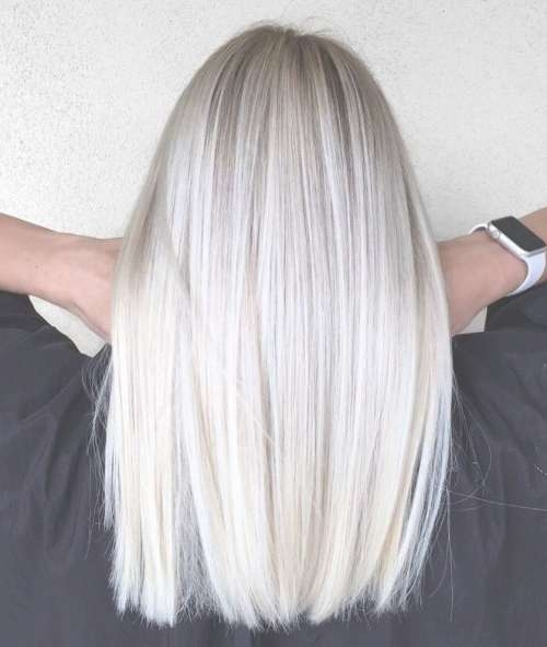 23 Best Platinum Blonde Hair Colors And Highlights For 2018 Throughout Most Recent Platinum Blonde Medium Hairstyles (View 3 of 15)