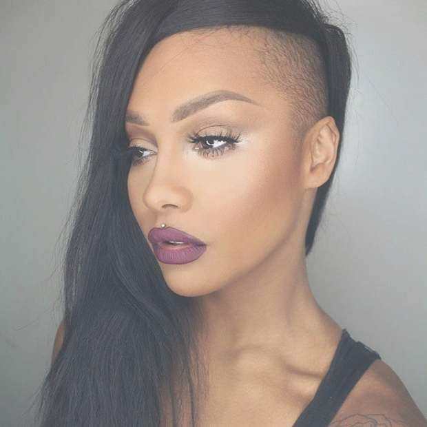 23 Most Badass Shaved Hairstyles For Women | Stayglam In Recent Half Shaved Medium Hairstyles (View 5 of 25)
