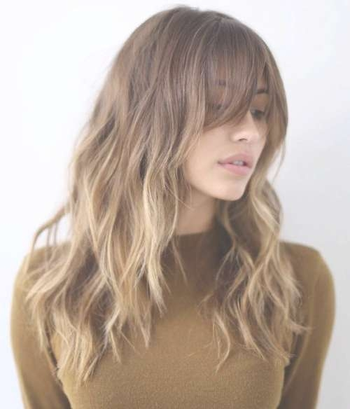 Photo Gallery Of Medium Hairstyles With Wispy Bangs Showing 14 Of