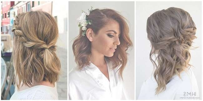 24 Lovely Medium Length Hairstyles For Fall Weddings With Most Up To Date Wedding Medium Hairstyles (View 2 of 25)