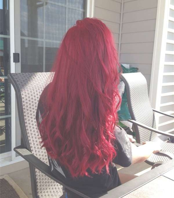 24 Ravishing Shades Of Red Hair Color 2018 | Hairstyle Guru Regarding Most Current Bright Red Medium Hairstyles (View 13 of 15)