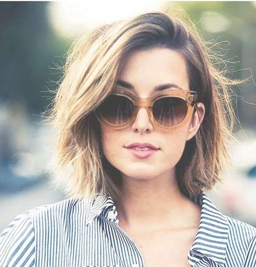 Displaying Gallery of Medium Haircuts With Glasses (View 16 of 25 ...