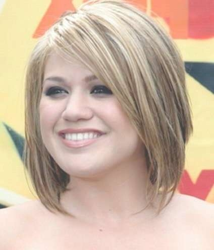25 Best Medium Hairstyles For Round Faces Images On Pinterest Within Most Recently Medium Haircuts With Bangs For Round Face (View 24 of 25)