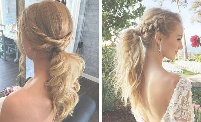 25 Elegant Ponytail Hairstyles For Special Occasions | Stayglam With 2018 Medium Hairstyles Formal Occasions (View 13 of 25)