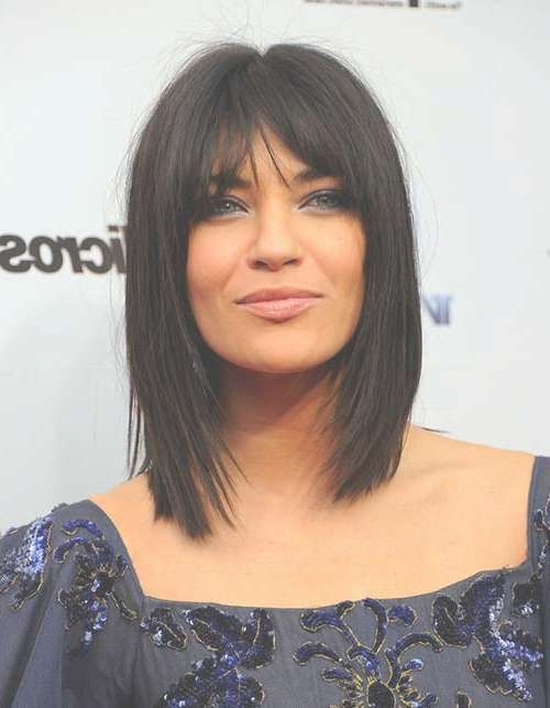 25 Head Turning Straight Hairstyles With Bangs – Hairstyle Insider Within Newest Medium Haircuts With Straight Bangs (View 25 of 25)