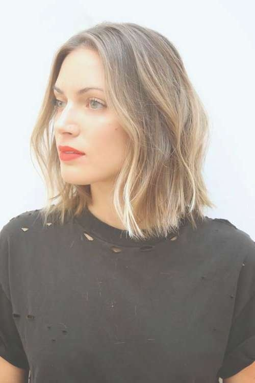 25 Latest Medium Hairstyles For Wavy Hair | Hairstyles & Haircuts With Regard To Newest Blunt Medium Hairstyles (View 8 of 25)