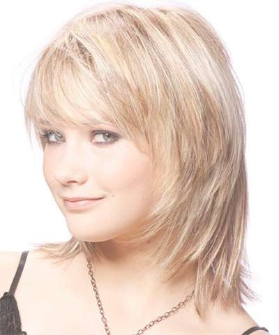 25 + Modern Medium Length Haircuts With Bangs , Layers For Thick Intended For Most Up To Date Medium Hairstyles With Side Bangs For Round Faces (View 22 of 25)