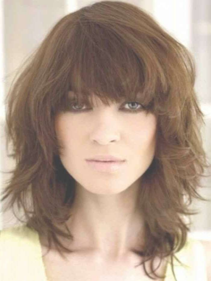 25 Most Delightful Photos Of Medium | Simple Stylish Haircut With Most Recent Medium Haircuts For Thick Wavy Hair (View 6 of 25)