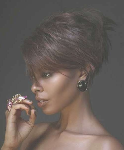 25 Short Haircuts For Black Women | Short Hairstyles 2016 – 2017 With Most Popular Edgy Medium Haircuts For Black Women (View 4 of 25)