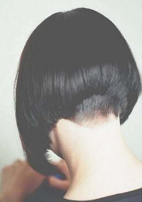 25 Short Inverted Bob Hairstyles | Short Hairstyles 2016 – 2017 Regarding Bob Haircuts Shaved In Back (View 13 of 25)
