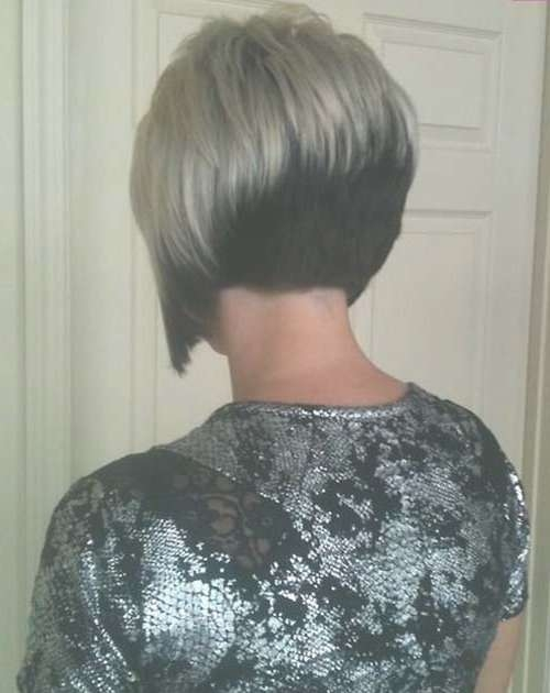 25 Short Inverted Bob Hairstyles | Short Hairstyles 2016 – 2017 Within Bob Haircuts Shaved In Back (View 7 of 25)