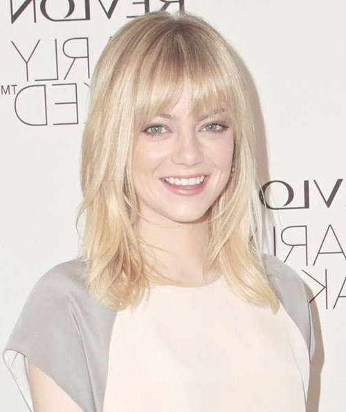 25 Short Medium Length Haircuts | Short Hairstyles 2016 – 2017 Within Most Up To Date Medium Haircuts With Fringe (View 9 of 25)