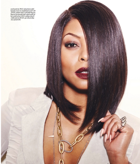 25 Stunning Bob Hairstyles For Black Women In One Side Longer Bob Haircuts (View 8 of 25)