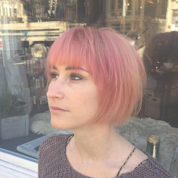 25 Stylish Bob Hairstyles With Bangs –Style & Colour In Perfect Intended For Short Bob Hairstyles With Bangs (View 6 of 25)