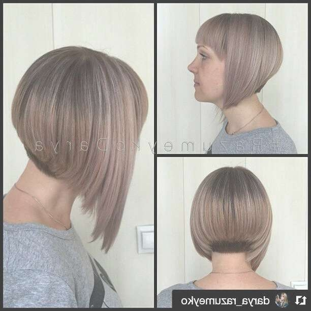 26 Lovely Bob Hairstyles: Short, Medium And Long Bob Haircut Ideas Inside Bob Haircuts Shaved In Back (View 23 of 25)