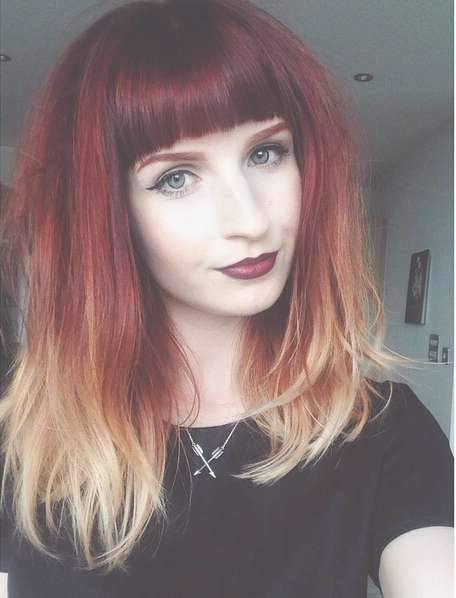 26 Stunning New Red Hair Colour Ideas – Popular Haircuts With Latest Red Medium Hairstyles (View 1 of 25)