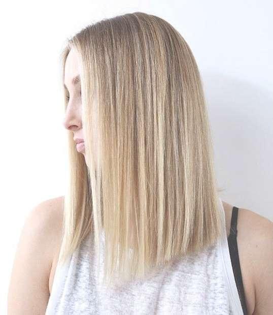 27 Beautiful Long Bob Hairstyles: Shoulder Length Hair Cuts Inside One Length Bob Haircuts (View 23 of 25)