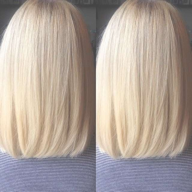27 Beautiful Long Bob Hairstyles: Shoulder Length Hair Cuts Pertaining To Most Popular One Length Medium Haircuts (View 4 of 25)
