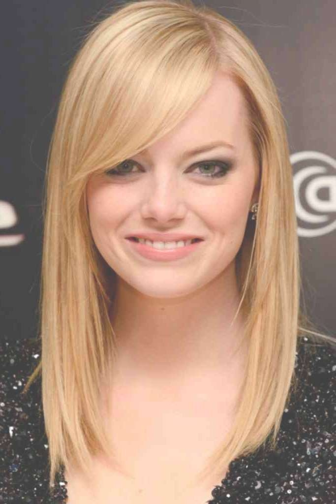 the best medium hairstyles for round face and fine hair