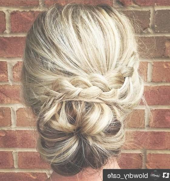 27 Trendy Updos For Medium Length Hair: Updo Hairstyle Ideas For 2017 In 2018 Posh Medium Hairstyles (View 5 of 15)